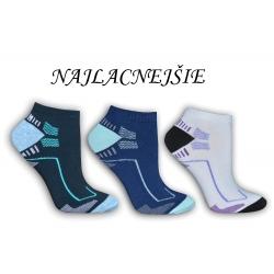 Športové kotníkové ponožky - 3-páry