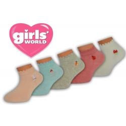 Kotníkové dievčenské ponožky 5-párov