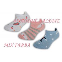 Detské krátke ponožky so zvieratkom 3-páry