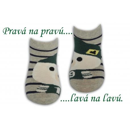 Chlapčenské bavlnené ponožky na leto-bl.sivé
