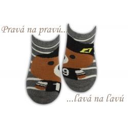 Chlapčenské bavlnené ponožky na leto-sivé