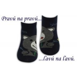 Chlapčenské kotníkové ponožky -modré