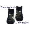 Chlapčenské bavlnené ponožky na leto-modré