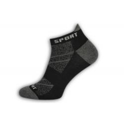 IBA 39-42! Perforované čierne športové ponožky s pätičkou