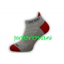 Perforované bl.sivé pánske športové ponožky
