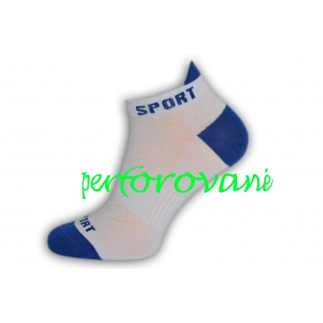 Perforované biele pánske športové ponožky
