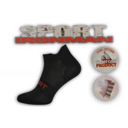 Športové čierne ponožky s pätičkou