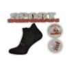 Jednofarebné čierne ponožky s pätičkou