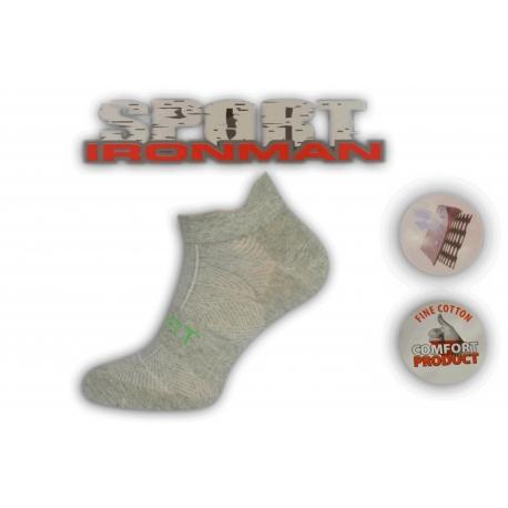 Jednofarebné bl.sivé ponožky s pätičkou