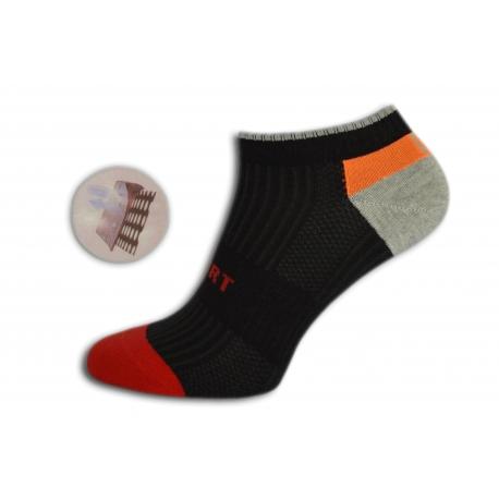 Nízke športové farebné ponožky
