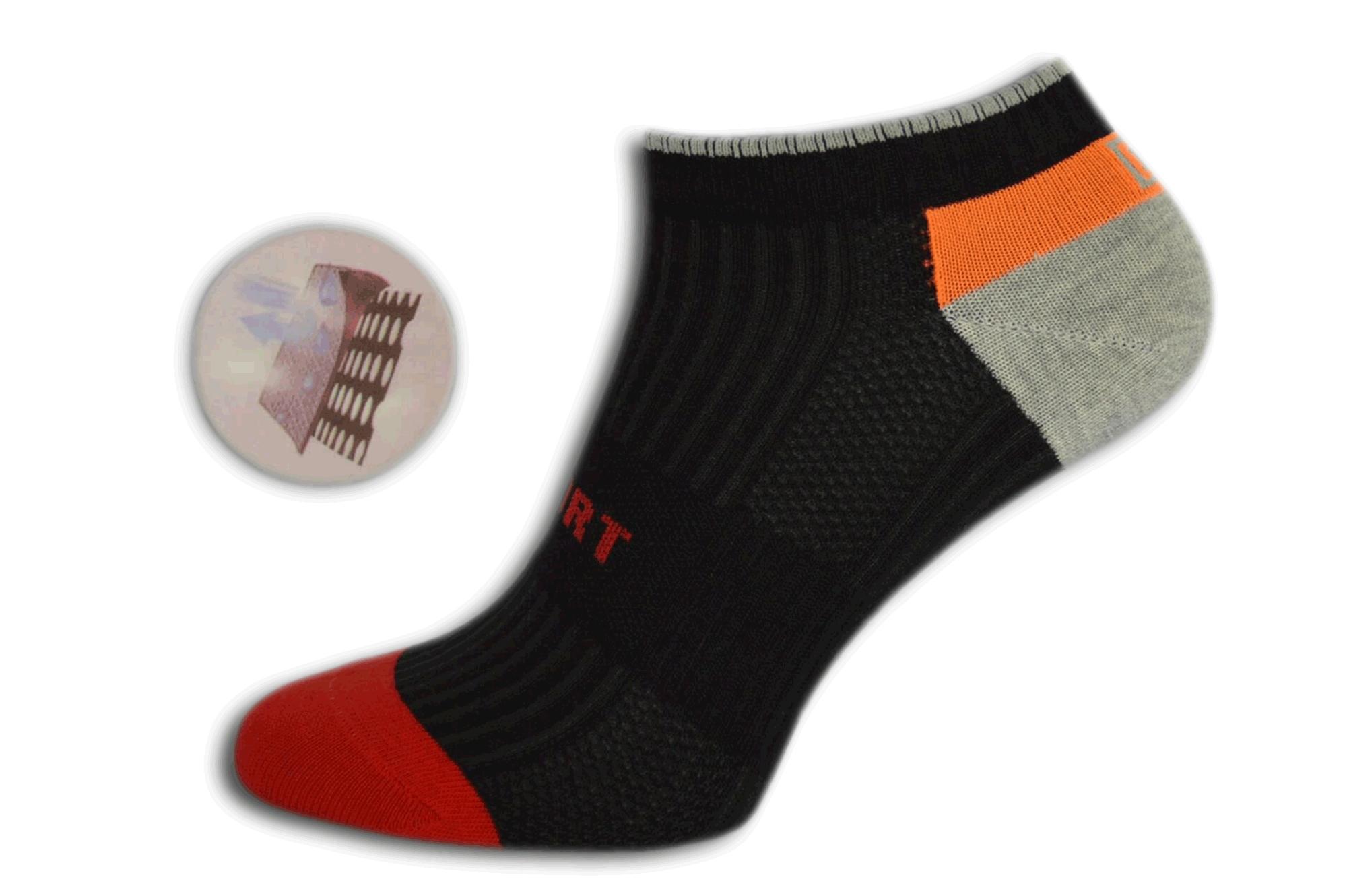 Nízke športové farebné ponožky fb03c28421
