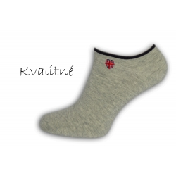 Luxusné sivé pánske ponožky