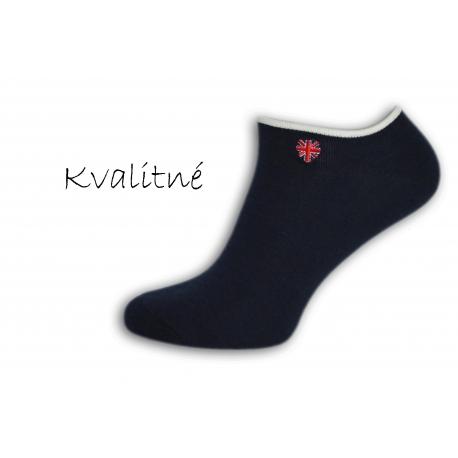 Luxusné tmavé pánske ponožky