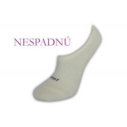 NESPADNÚ! Biele neviditeľné dámske ponožky