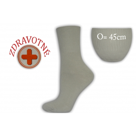 Zdravotné dámske sivé ponožky