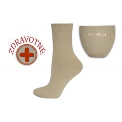 Zdravotné dámske bledé ponožky