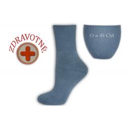 Zdravotné dámske modré ponožky