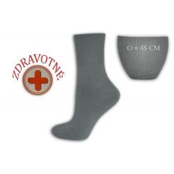 Zdravotné dámske tm.sivé ponožky