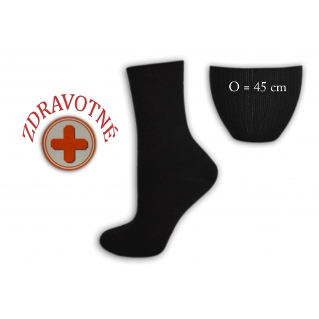 Zdravotné dámske čierne ponožky