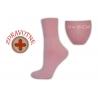 Zdravotné dámske ružové ponožky