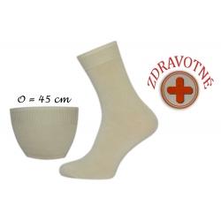 Bambusové zdravotné bledé ponožky