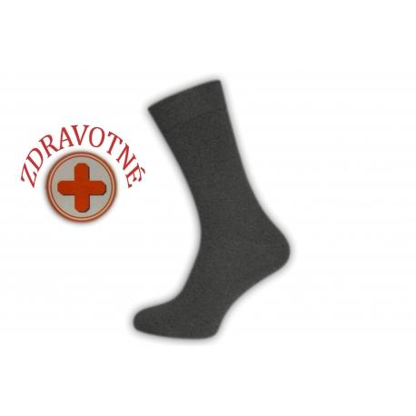 Sivé bavlnené zdravotné ponožky