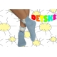 Modré detské ponožky z 90%bavlny