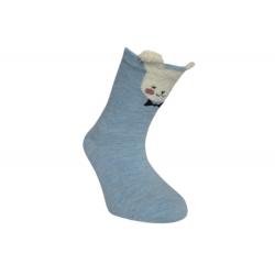 Od 8-20 mesiacov! Modré detské ponožky z 90%bavlny