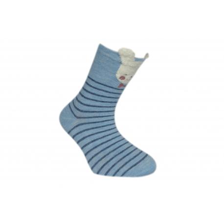 Pásikavé bavlnené ponožky z 90%bavlny