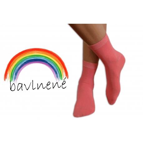 Jednofarebné lososové detské ponožky