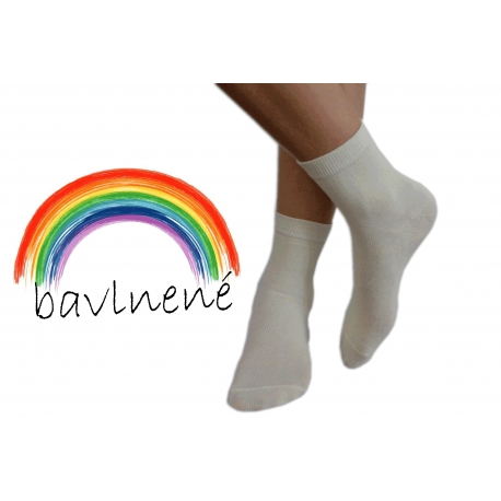 Maslové jednofarebné detské ponožky
