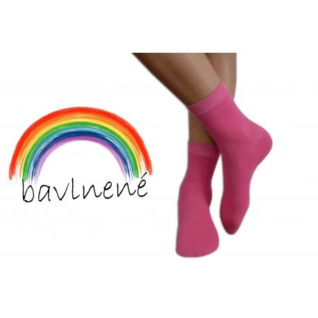 Ružové jednofarebné detské ponožky