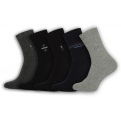 Jednofarebné pánske ponožky - 5 balenie