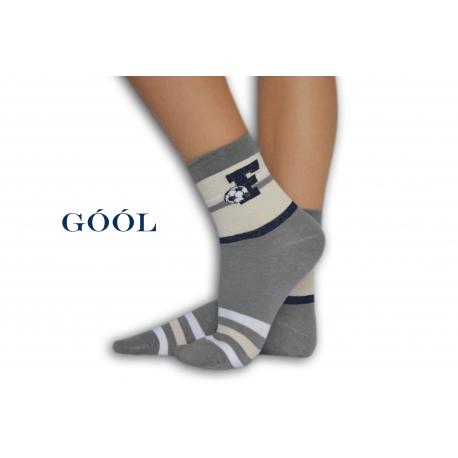 Bledo-sivé chlapčenské ponožky s futbalom