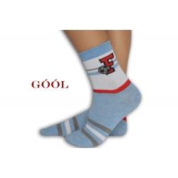 Belasé chlapčenské ponožky s futbalom