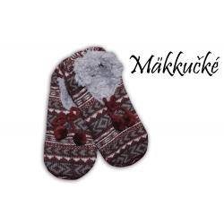 IBA 38-41! Ponožkové papuče s nórskym vzorom.