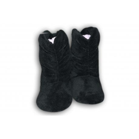 Zajačikové dámske vysoké papuče-sivé