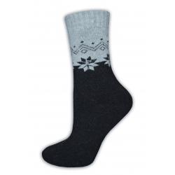 Vlnené teplučké dámske ponožky s angorou