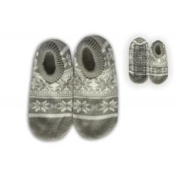 Sivé nízke balerínkové papuče so vzorom