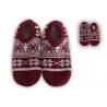 Bordové nízke balerínkové papuče so vzorom
