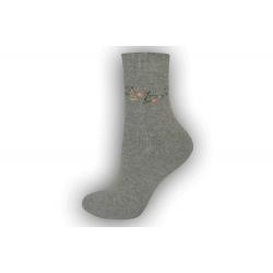 POSLEDNÝ KUS 39-42! Zimné vlnené ponožky s angorou - sivé