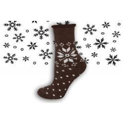 POSLEDNÝ KUS  39-42! 98% bavlnené zdravotné termo ponožky s vločkou