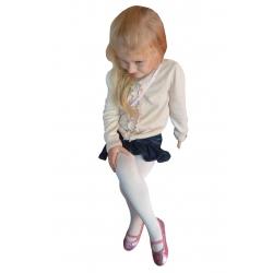 IBA 128-134! 90%bavlny! Dievčenské bavlnené pančuchy - slovová kosť