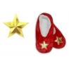 Darček na vianoce – červené papuče s hviezdou