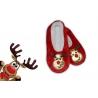 Darček na vianoce – červené papuče so sobom