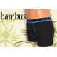 Skvelé bambusové pánske boxerky - čierne