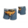 Detské 95%-né bavlnené boxerky s autom - sivé