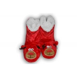 Červené dámske papuče so sobom