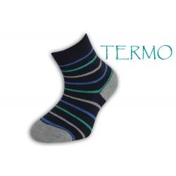 Teplé ponožky pre deti - pásikavé
