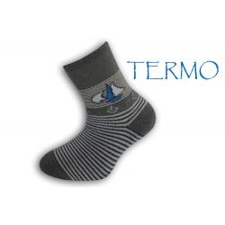 90% bavlna. Termo ponožky pre deti s loďkou